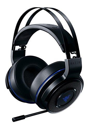Razer Thresher 7.1 für PlayStation - Wireless Gaming Headset für PS4, PS5 und PC (Kabellose Kopfhörer, Dolby 7.1 Surround-Sound, 16 Stunden Akku-Laufzeit, ausziehbares Mikrofon) Schwarz-Blau