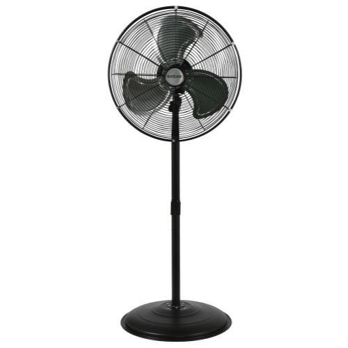 Hurricane HGC736472 Pedestal Fan-20 Inch, Pro Series, High Velocity, Heavy Duty Metal for Industrial, Commercial, Residential, Greenhouse Use-ETL Listed, 20', Black