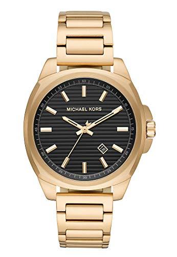 Michael Kors Herren Analog Quarz Uhr mit Edelstahl Armband MK8658