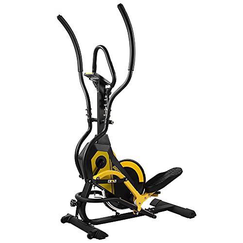ONETWOFIT Vélo elliptique 3 en 1, Crosstrainer de Volant d'inertie de 24 kg, 3 Angles réglables, 8 Niveaux de résistance, écran LCD, Max. 264 lb/120 kg