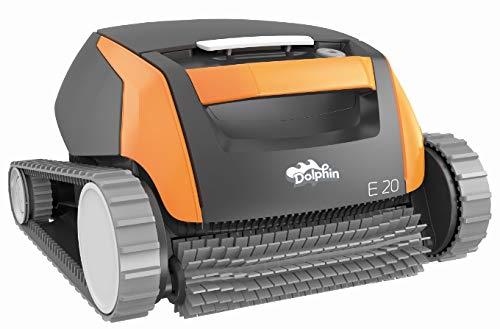 Dolphin E20 Automatischer Schwimmbad-Reinigungsroboter. Handlicher, leichter und einfach zu reinigender Sauger. Ideal für in den Boden eingelassene und auf der Erde aufgestellte Schwimmbecken