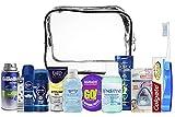 Kit d'accessoires de voyage pratique, articles de toilette de voyage, cadeaux pour homme et femme, 13 pièces. Approuvé comme bagage cabine.
