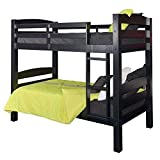 Powell Black Bunk Bed, Twin/Full,
