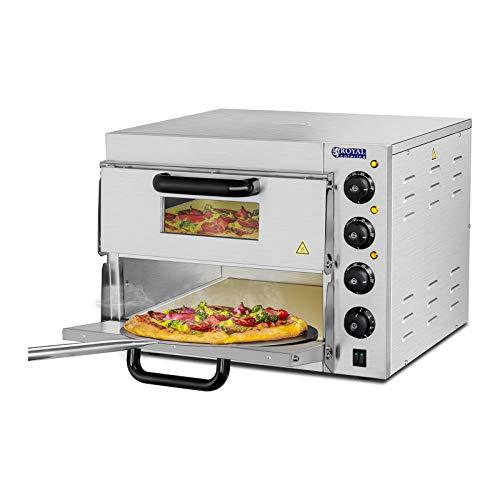 Royal Catering Forno Elettrico Professionale per Pizza 350C a Due Ripiani per Ristorante Camion di...