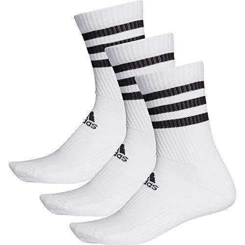 Adidas 3s CSH Crw3p, Socks Uomo, White/White/White, M