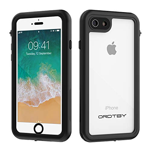 ORDTBY iPhone 7/8/SE Waterproof Case, Underwater Full Sealed Cover IP68 Certified for Waterproof Snowproof Shockproof and Dustproof Case for iPhone 7/8/SE (Clear, 4.7inch)