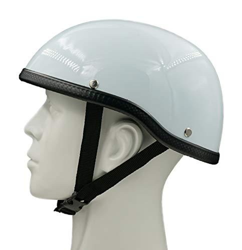 Hot Rides Classic Costume Carnival Skate Scooter Helmet Novelty Scull Cap OSFM White