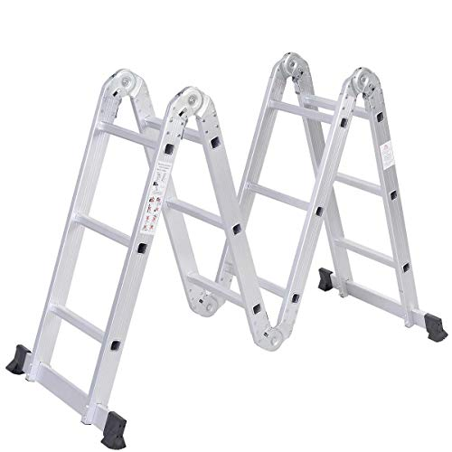 Safeplus Aluminum Lightweight Multi Task Ladder,...