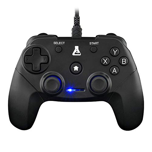 THE G-LAB K-Pad Thorium Mando Gaming PC & PS3 con USB - Vibración Incorporada - Joystick para PC con Windows XP-7-8-10, PS3, Android (Negro) (con Cable)