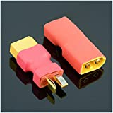 Isali 1pcs T Male Plug to XT60 Male/T Female Plug to XT60 Female Adapter for RC Helicopter Quadcopter LiPo Battery Plug Connector - (Color: T Male to XT60 Male)