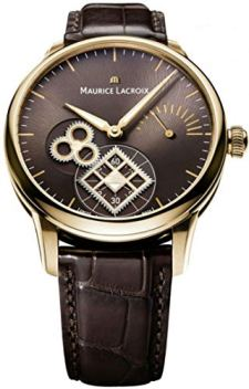 Rose Gold Maurice Lacroix Masterpiece Roue Carree Seconde Brown Dial