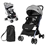 besrey Lightweight Baby Stroller, Folding Compact Travel Stroller for Airplane, Convenience Stroller with Reclining Seat for Baby Sleep, Infant Stroller for 0-3 Year with Rain Cover & Travel Carry Bag