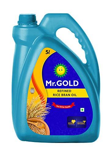 Mr. Gold Refined Rice Bran Oil Can, 5L