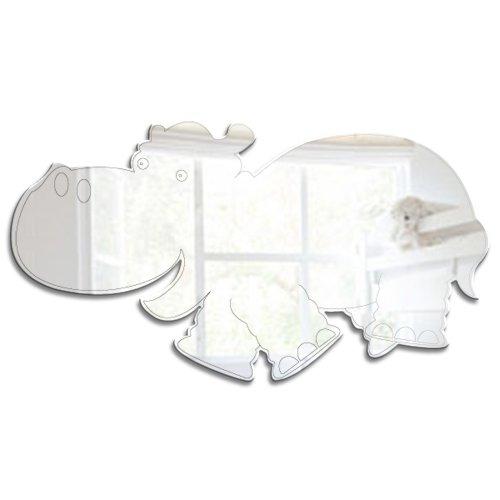 Mungai Mirrors Dschungel-Flußpferd-Acryl-Spiegel (15cm)