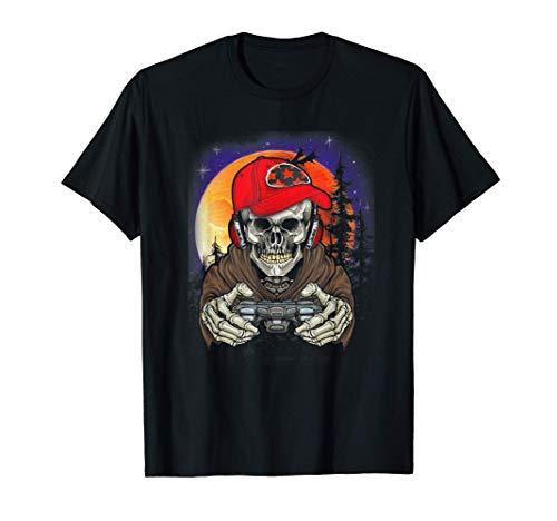 Halloween Tee Men Boys Gamer Gift Skeleton Outfit Boys T-Shirt