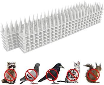 Yomiro Pic Anti Pigeon pour Balcon Repulsif Pigeon Anti Chat Anti Oiseaux Effaroucheur Oiseaux Effaroucheur Pigeons Bird Tech Protection du Jardin Pics 3.6m (Blanc)