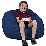 FUGU Kids Beanbag Chair, Premium Foam Filled 2', Protective Liner Plus Removable Machine Wash, Navy Blue