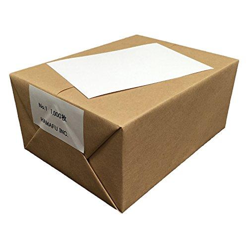 NO.1 白色両面無地ハガキ(100x148) 1,000枚 ハムのQSLカードやDMに