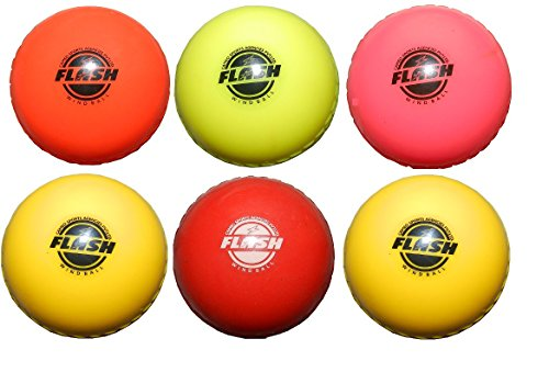 FLASH Soft Wind Synthetic Cricket Ball (Multicolour) - Pack of 6