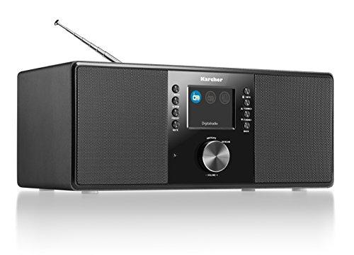 Karcher DAB 5000 Digitalradio (DAB+ / UKW-RDS, AUX-IN, Wecker mit Dual-Alarm) schwarz