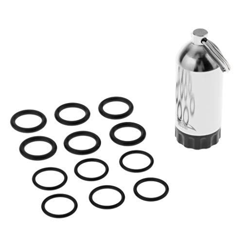 CUTICATE Taucherei Dry Box mit Dichtungsring zum Tauchen Schnorcheln - Silber