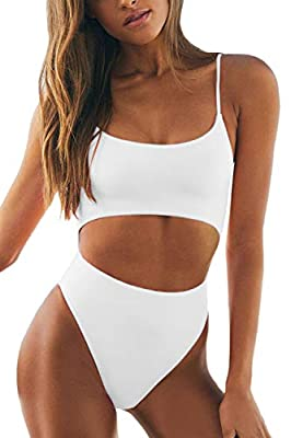 Features:Sexy Spaghetti Strap High Waist Monokini with Lace Up Backless detailing and seductive Cut-outs combine to make this underbust swimsuit undeniably sexy This Solid Bathing Suit features Full Coverage,Scoop Neck,Removeable Padded,Brazilian Hig...