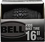 Bell 7091031 Kids Bike Tire, 16' x 1.75-2.25', Black