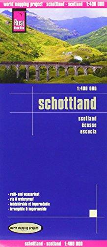 Escocia, mapa de carreteras impermeable. Escala 1:400.000. Reise-Know-How.