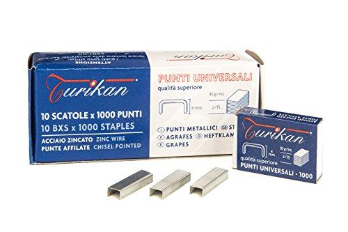 Turikan HK482/154mm10S 10.000punti metallici numero 48per POPART Cucitrice a pinza di Ugo Nespolo