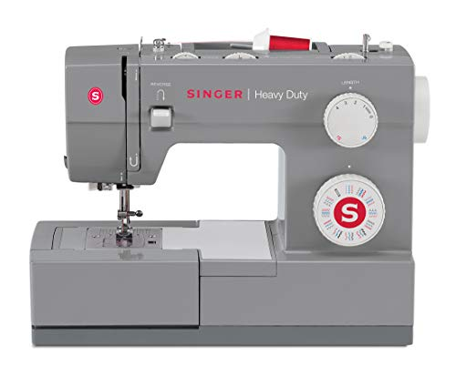 SINGER Heavy Duty Sewing Machine With Included Accessory Kit, 110 Stitch Applications 4432, Beginner Friendly, Gray