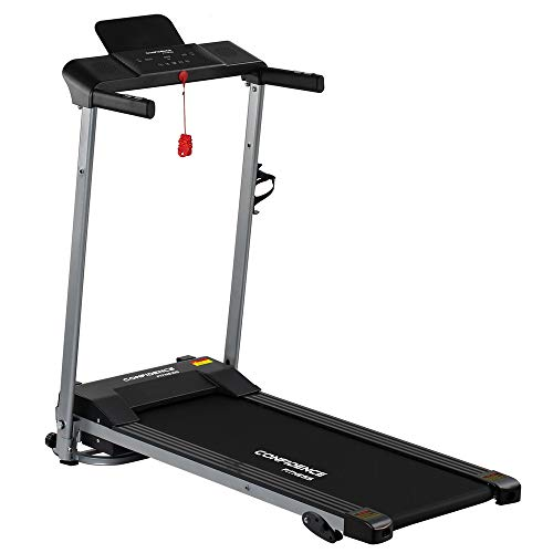 Confidence Fitness Ultra 200 Treadmill Electric Motorised Running Machine Silver/Black