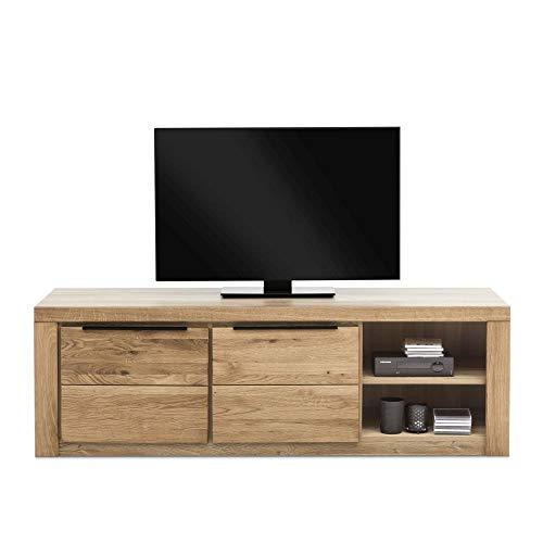 Elfo Dynamic24 Greta - Mobile Basso per TV, in Legno di Quercia Oliato, 160 cm