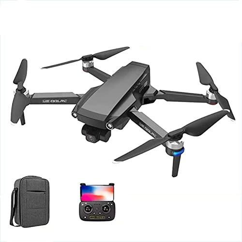 Lobhqph 2021 Nuovo Drone con Telecamera Anti-Vibrazione a Tre Assi 6K Distanza di Volo 5 km, 35 Minuti Droni GPS con quadricottero Senza spazzole HD 5G WiFi FPV Rc, Regalo per Bambini