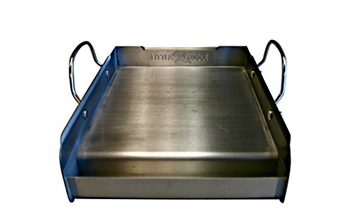 Little Griddle GQ-120 Q GQ120 100% Stainless Steel Medium-Sized Professional Griddle, Half, Metallic