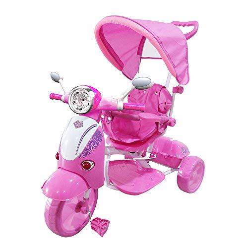 kid go Moto Triciclo a Spinta Seggiolino Reversibile per Bambini Rosa