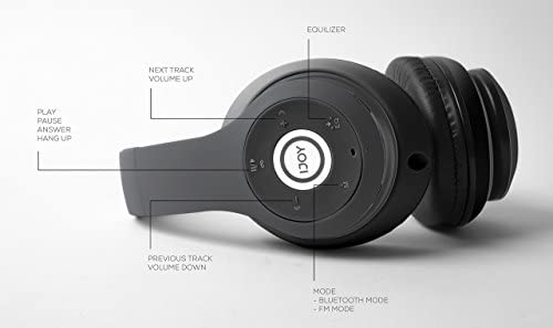 iJoy Matte Finish Premium Rechargeable Wireless Headphones Bluetooth Over Ear Headphones Foldable Headset with Mic (Stealth) 15