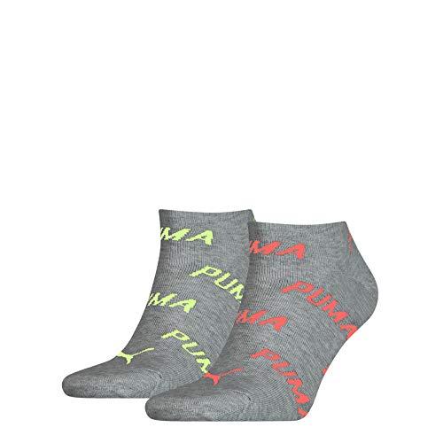PUMA BWT Sneaker-Trainer Socks (2 Pack) Calzini, Rosa Fluo, 35-38 Unisex-Adulto