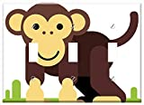 Switch Plate Triple Toggle - Monkey Animal Cartoon Character Comic Figure
