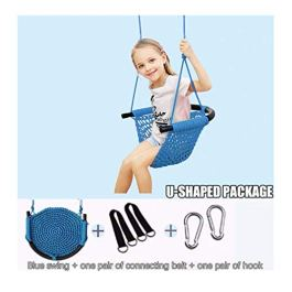 partysu Kids Swing Seat Adjustable Ropes Heavy Duty Rope Play Children Swing Set Baby Garden Swing Chair Hanging Chair Rope