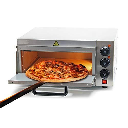 WilTec Four à Pizza électrique 2000W avec Pierre réfractaire Alimentaire Régualtion de température