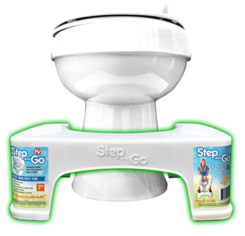 Step and Go Toilet Stool 7 New - Proper Toilet Posture for Better and Healthier Results