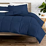 Bare Home Comforter Set - Queen Size - Goose Down Alternative - Ultra-Soft - Premium 1800 Series - Hypoallergenic - All Season Breathable Warmth (Queen, Dark Blue)