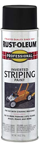 Rust-Oleum 2578838 Professional Stripe Inverted Striping Spray Paint, 18 oz, Black