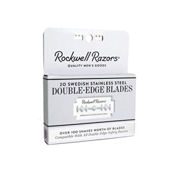 Rockwell Razors Swedish Stainless Steel Double-Edge Safety Razor Blades - 20-Pack (4 Month Supply)