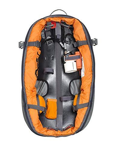 ABS Lawinenrucksack P.Ride Compact Base Unit, Partnerauslösung, Twinbags für mehr Sicherheit, verwendbar mit S.Light + P.Ride Compact Zipons und Carbon Inflator, kostenfreie Probeauslösung, Black