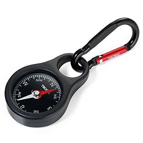 TROIKA Accessori da Viaggio-Etichetta da Valigia, Metall, Schwarz, 9, 8Centimeters