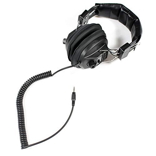 Soundlab nero stereo cuffie cavo a spirale con controllo del volume
