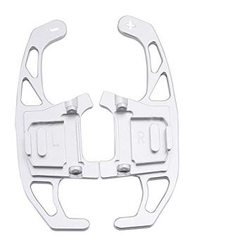 ExclusiveCustomz Silver Paddle Shifters Shift Gear Extension Suitable for VW Golf MK7 MK7.5 GTI GTD R TSI Mark 7 Shifter DSG 2013 2014 2015 2016 2017 2018 2019 2020 (nglf7sil)