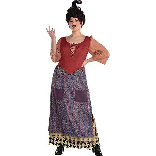 Party City Mary Sanderson Halloween Costume for Women, Hocus Pocus, Plus Size (18-20), Includes Dress