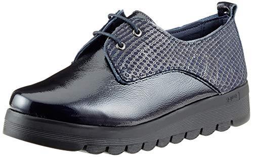 24 HORAS 23830, Zapatos de Cordones Oxford para Mujer, Azul (Navy 5), 39 EU